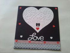 Tarjeta Corazón de servilleta