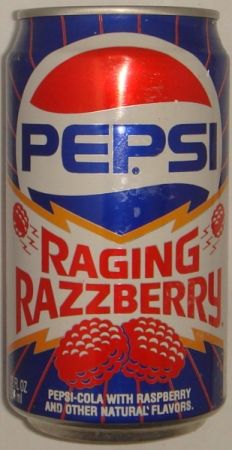 1991 - 12 ounce Pepsi Raging Razzberry can