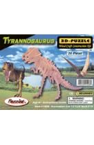 Tyrannosaurus 3-D Puzzle: Wood Craft Construction Kit