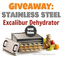 Giveaway: Stainless Steel Excalibur Dehydrator ($400 Value)