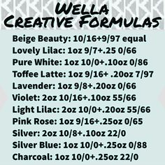 Favorite Wella Color Formulas These are some of the favorite creative color form. Favorite Wella C Toner For Orange Hair, Wella Color Charm Toner, Wella Illumina Color, Hair Color Formulas, Hair Toner, Hair Color Techniques, Platinum Hair, Haircut And Color, Bleached Hair