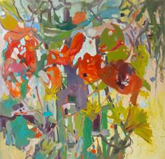 """Donna Andreychuk, Pushing the Limits, oil on canvas, 36""""x36""""."""