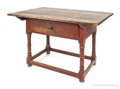 18thC painted Tavern Table