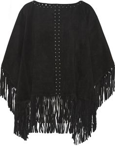 Michael Kors Fringed suede poncho