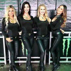 Monster Energy Girls, Monster Girl, Lederhosen, Belted Dress, Black Women, Pin Up, Leather Pants, Lady, Punk