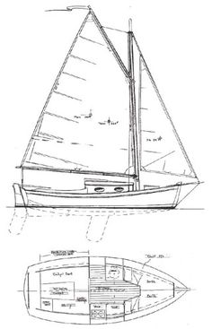 Mist - Daysailer/Pocket Cruiser   Chesapeake Marine Design