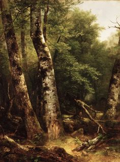 Asher B. Durand, Landscape (Birch and Oaks), c. 1855-57