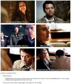 I wonder if he knows it now that Metatron gave him the info about movies and books// FEELS