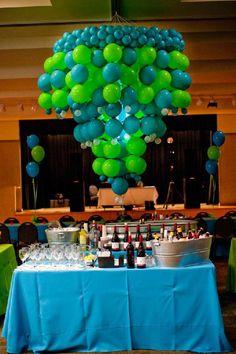 Araña de globos   -   Balloon chandelier