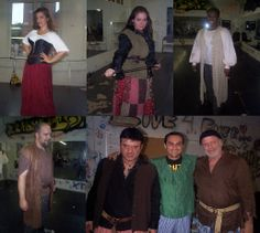 Costume fitting at rehearsal last night. A Pirate's Tale is going to look amazing!! Cheers!