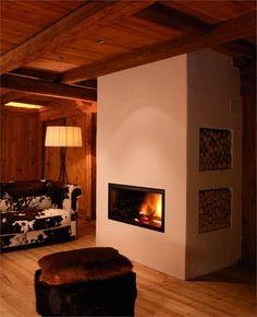 #SAN LORENZO MOUNTAIN LODGE  ELLE 23, SAN LORENZO DI SEBATO / ITALY / 2006 by Dellago architekten #architecture #fireplaces #design  Like, pin, Share :-)