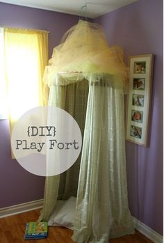 DIY Play Fort - Cute Idea For Kids Room