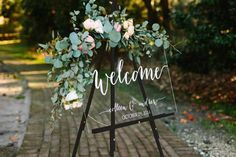 Wedding Welcome Sign  Wedding Signs  Acrylic by PaperandPineCo