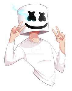 Oh look I acctually managed to draw somethingg~~ I gotta say I'm very proud of this and I already feel better uvu This drawing is of the artist Marshmello and their new song Alone: www.yo...