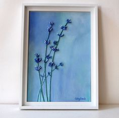 Lavender IV [could do this with dried and pressed flowers too]