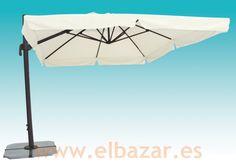 Sombrilla/parasol crudo 3x4m. Pié lateral 360
