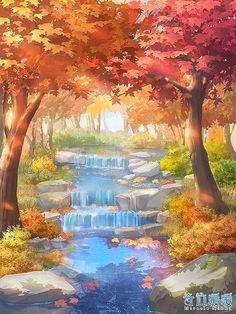 Fantasy Art Landscapes, Fantasy Landscape, Landscape Art, Anime Scenery Wallpaper, Tree Wallpaper, Scenery Background, Watercolor Wallpaper, Art Drawings Sketches Simple, Beautiful Nature Wallpaper