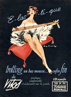 Vintage Poster - Vitos Hosiery - 1957 - Fashion