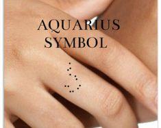 Znalezione obrazy dla zapytania aquarius tattoo