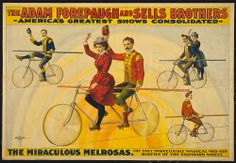 CIRCUS ENTERTAINMENT: 1900 Circus Poster with Cyclists