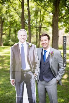 groomsman cardboard cut out | CHECK OUT MORE IDEAS AT WEDDINGPINS.NET | #bridesmaids