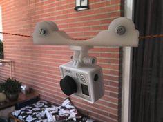 Sencillo cablecam dolly (tirolina) para cámara GoPro