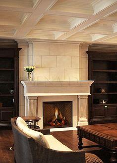 Fireplace Mantels Toronto | Custom Mantels Mississauga | Stone Mantels Markham, Fireplace Surrounds Richmond Hill, Vaughan, Burlington, Oakville | Parsiena Design Inc.