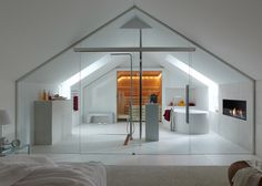 Badkamer aansluitend op de slaapkamer