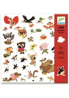 Stickers: bosdieren