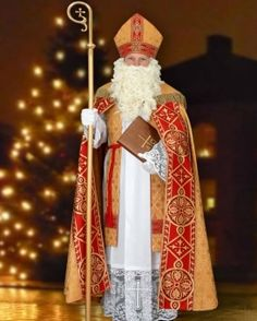 Everything about St Nicholas: stories, customs, crafts & more. Saint Costume, St Nicholas Day, Santa Pictures, Santa Suits, Catholic School, Holiday Outfits, Adult Costumes, Wood Carving, Costume Design