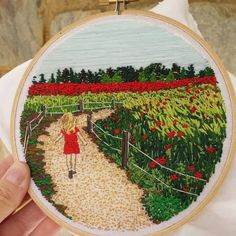-> Please, check out this Etsy shop! If you love embroidery, as I do, you… Embroidery Art, Embroidery Stitches, Embroidery Patterns, Portrait Embroidery, Buy My House, Thread Painting, Fiber Art, Needlepoint, Wall Art