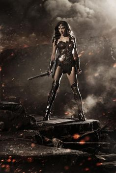 SARGE NOTE - check here for a colorized version I did... http://www.pinterest.com/pin/254946028881104190/  Israeli actress Gal Gadot in an officially leaked photo of her current Wonder Woman costume design.