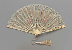 Debutante fan carried by a New Orleans queen of #MardiGras in 1904. Museum of Fine Arts