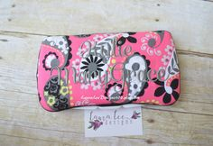 Pink Retro Paisley Boutique Style Travel by LauraLeeDesigns108