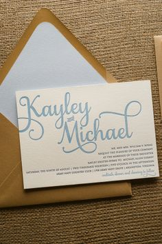 ADELE Suite Cutie Package, navy blue and kraft, shades of blue wedding, baby blue, rustic wedding invitations, letterpress wedding invitations
