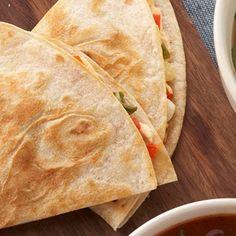 Sweet Pepper-Green Onion Quesadillas--vegetarian diabetic recipes