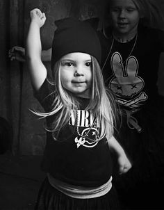 This is my future daughter. a tiny little dancer rocking a nirvana tshirt! Definitely my husband's style for our daughter! Fashion Kids, Toddler Boy Fashion, Cute Kids, Cute Babies, Baby Kids, Future Daughter, Future Baby, My Girl, Ideias Fashion