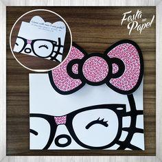 Convite Infantil Hello Kitty CHK001