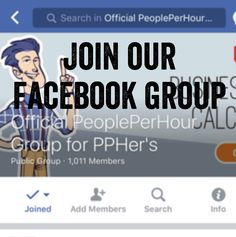 We have over 1,000 members in our Facebook group and growing! Join it today! Get any job done on PeoplePerHour. Post a job for free to find professional freelancers and find freelance jobs in minutes! PeoplePerHour is a marketplace connecting small businesses, startups, entrepreneurs, corporations, enterprises, SMEs and freelancers all over the world in a trusted environment where they buy and sell services.