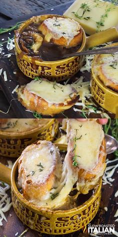 slow cooker recipes Slow Cooker French Onion Soup is ridiculously easy to make. It is incredibly flavorful and you can top it with as much cheese as you want! Crockpot French Onion Soup, French Onion Chicken, Onion Soup Recipes, Easy French Onion Soup, Healthy Sweet Snacks, Healthy Recipes, Slow Cooker Recipes, Cooking Recipes, French Food Recipes