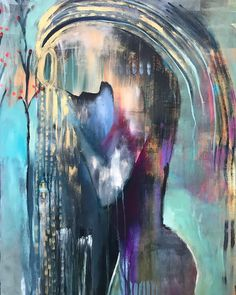 Another favorite from the mom series. Hope you're having a nourishing Sunday. Flora Bowley, Home Decor Pictures, Mixed Media Art, Mix Media, Abstract Canvas, Art Studios, Painting Prints, Paintings, Creative Inspiration