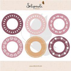 Circle Monogram Frames Bundle  SVG Cut Files by SolipandiDesigns