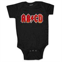 Baby Onesies -  AB/CD Rock & Roll Onesie