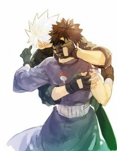 Kakashi: You have been gone for so. Now, I won't let you go till you promise to never leave me again. Obito: I promise. I won't leave you till death pulls me out of your arms.