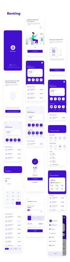 finance app design Multipurpose finance app ui kit - App Templates - Ideas of App Templates - App Ui Kit Finance on Behance Web Design Mobile, App Ui Design, User Interface Design, Design Design, Wireframe Design, Android Design, Android Ui, Graphic Design, Ui Kit