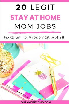 20 Legit Stay At Home Mom Jobs (That pay well) Are you a stay at home mom that wants to earn extra money online, working from home ? Here is a list of 20 best, legit jobs for stay at home moms that pay well so you can earn extra money working from home Stay At Home Mom, Make Money From Home, Way To Make Money, Legitimate Work From Home, Work From Home Jobs, Earn Extra Money Online, Earn Money, Best Money Making Apps, How To Get Rich