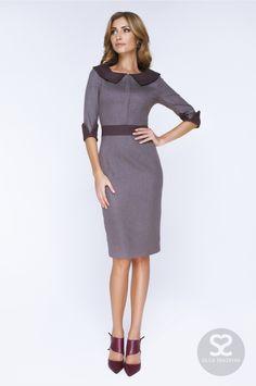 Платье с отложным воротником и манжетами в интернет-магазине дизайнера. | Skazkina