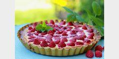 Valmista Kevyehkö vadelma-tuorejuustopiirakka tällä reseptillä. Helposti parasta! Healthy Baking, Raspberry, Cheesecake, Deserts, Fruit, Recipes, Tarts, Foods, Drinks