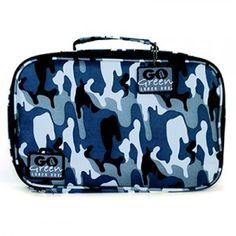 Go Green Lunch Box Set • 5 Compartment Leak-Proof Lunch Box • Insulated Carrying Bag • Beverage Bottle • Gel Freezer Pack (Blue Camo) Green Box, Blue Box, Go Green, Lunch Box With Compartments, Lunch Box Set, Lunch Cooler, School Lunch Box, School Lunches, Lunch Containers