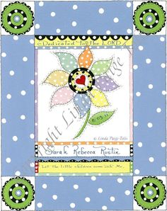 Your personalized baby dedication gift is  is a lovely reminder of the day you committed your child to Jesus.  I pray this blue dotted posie is a reminder of your dedication day and may God bless you as you grow in the grace and knowledge of our Lord and Savior Jesus Christ. $20.00 #babydedicationgift   http://www.etsy.com/listing/71757857/christian-baby-dedication-gift-baby